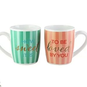 2/$32 How Sweet it is & To Be Loved By You Mug Set
